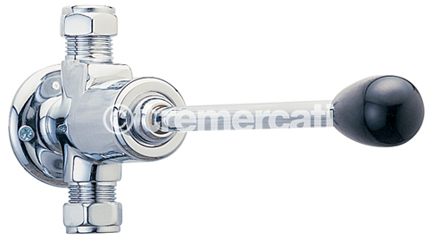 TRE MERCATI CAPRI NON CONCUSSIVE STANDARD KNEE OPERATED VALVE - CHROME PLATED