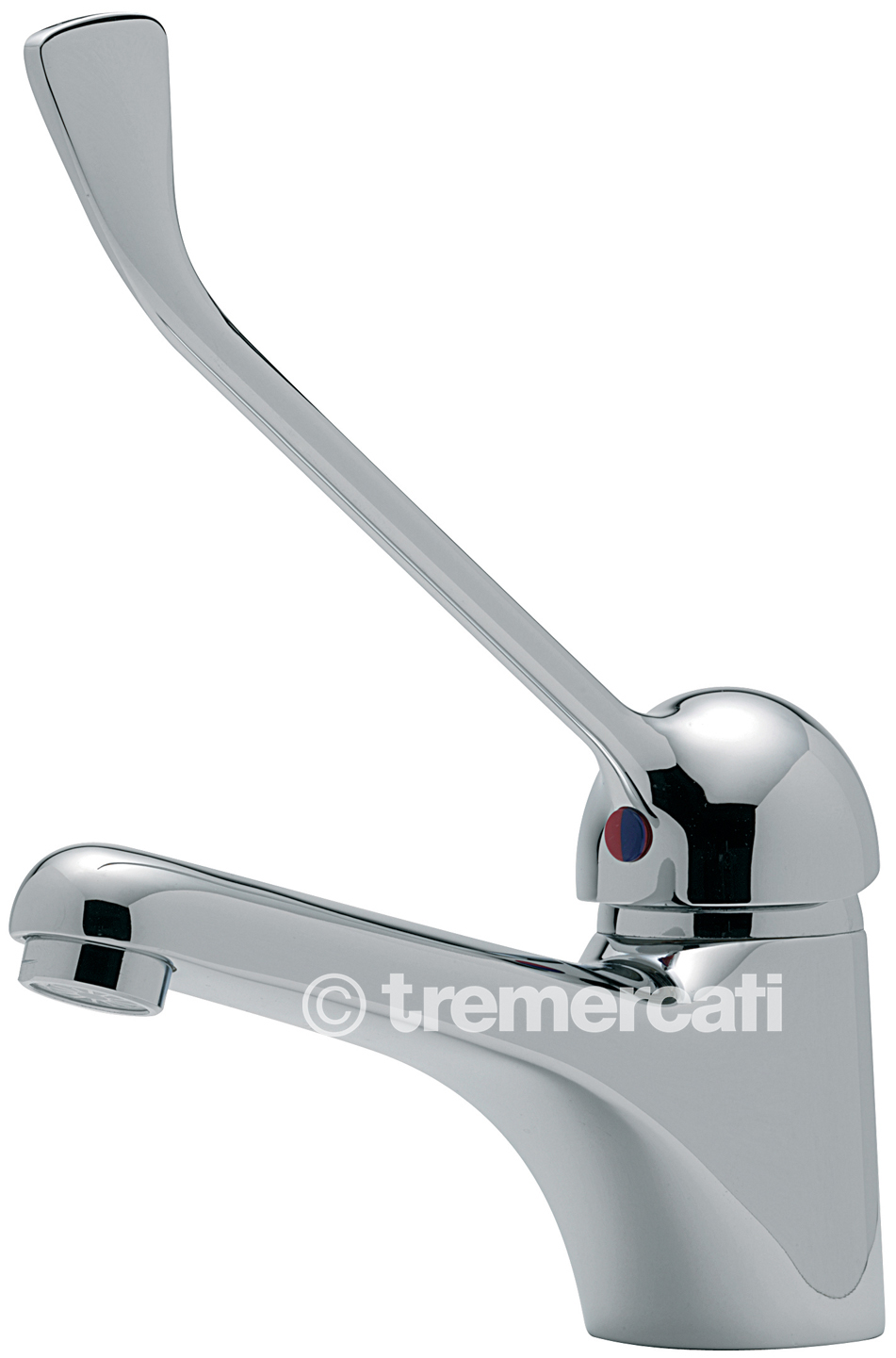 TRE MERCATI MODENA MONO BASIN MIXER WITH EXTENDED LEVER CHROME PLATED