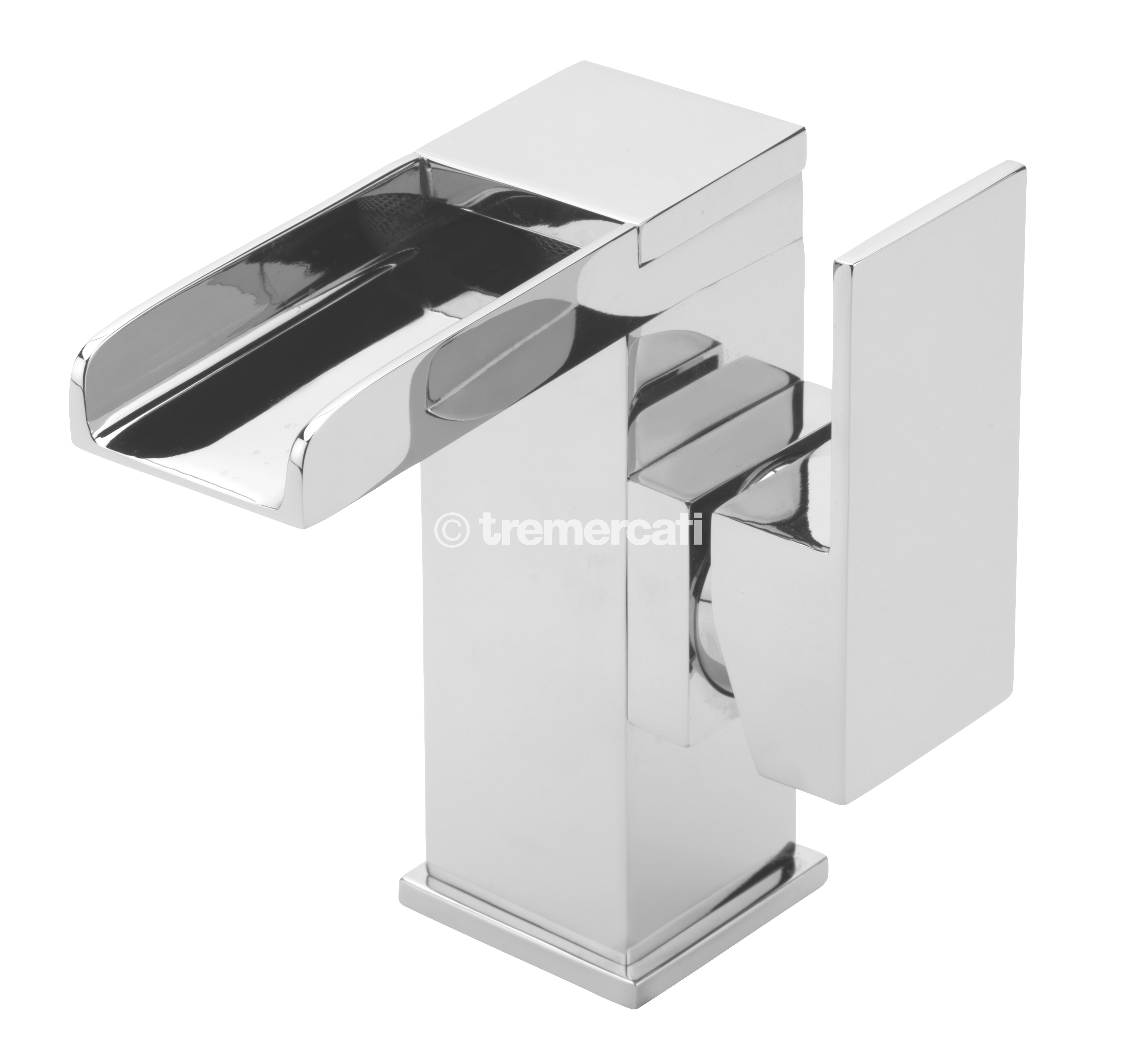 TRE MERCATI GEYSIR SIDE LEVER MONO BASIN MIXER WITH CLICK CLACK WASTE CHROME PLATED