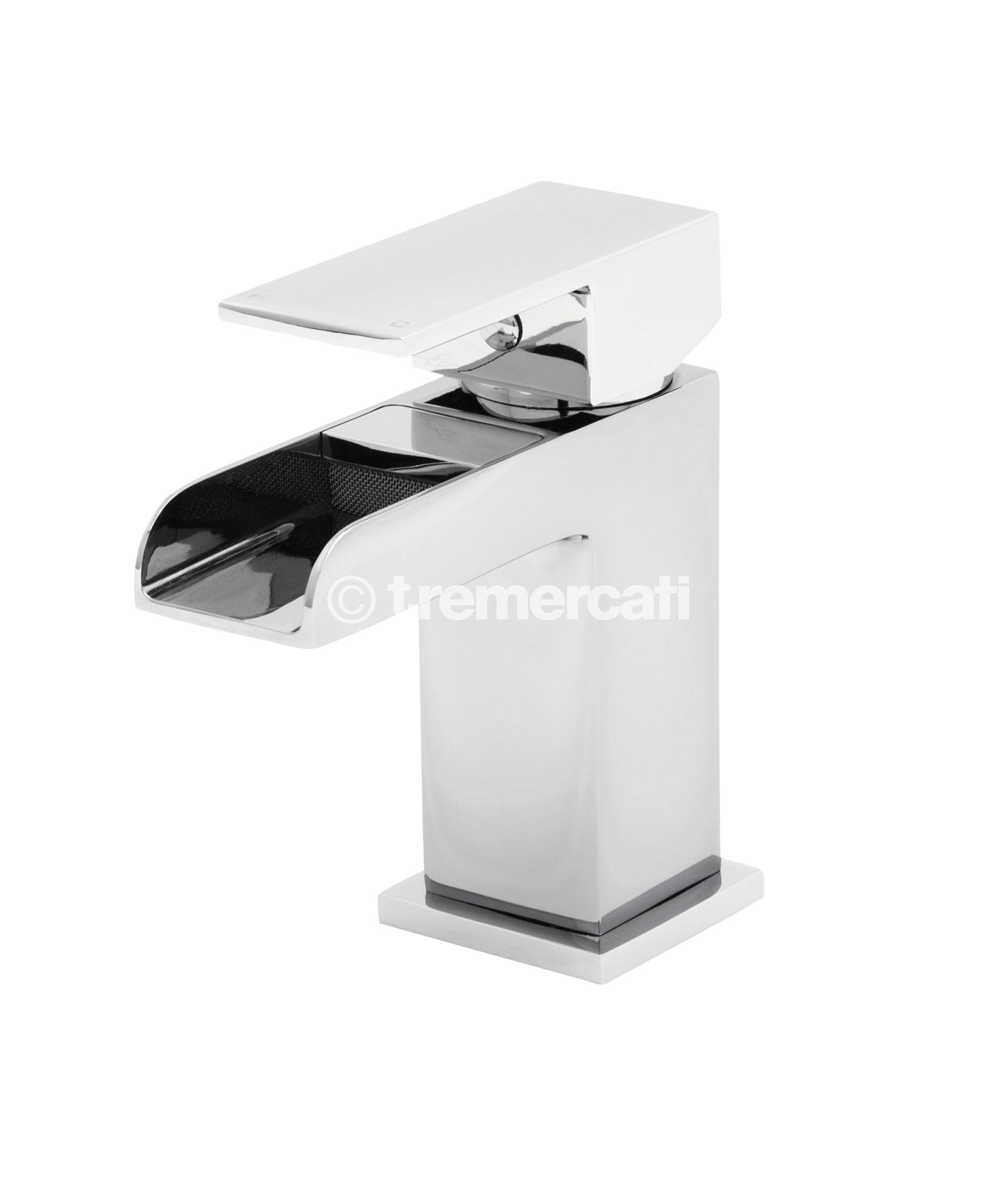 TRE MERCATI GEYSIR MONO BASIN MIXER WITH CLICK CLACK WASTE CHROME PLATED