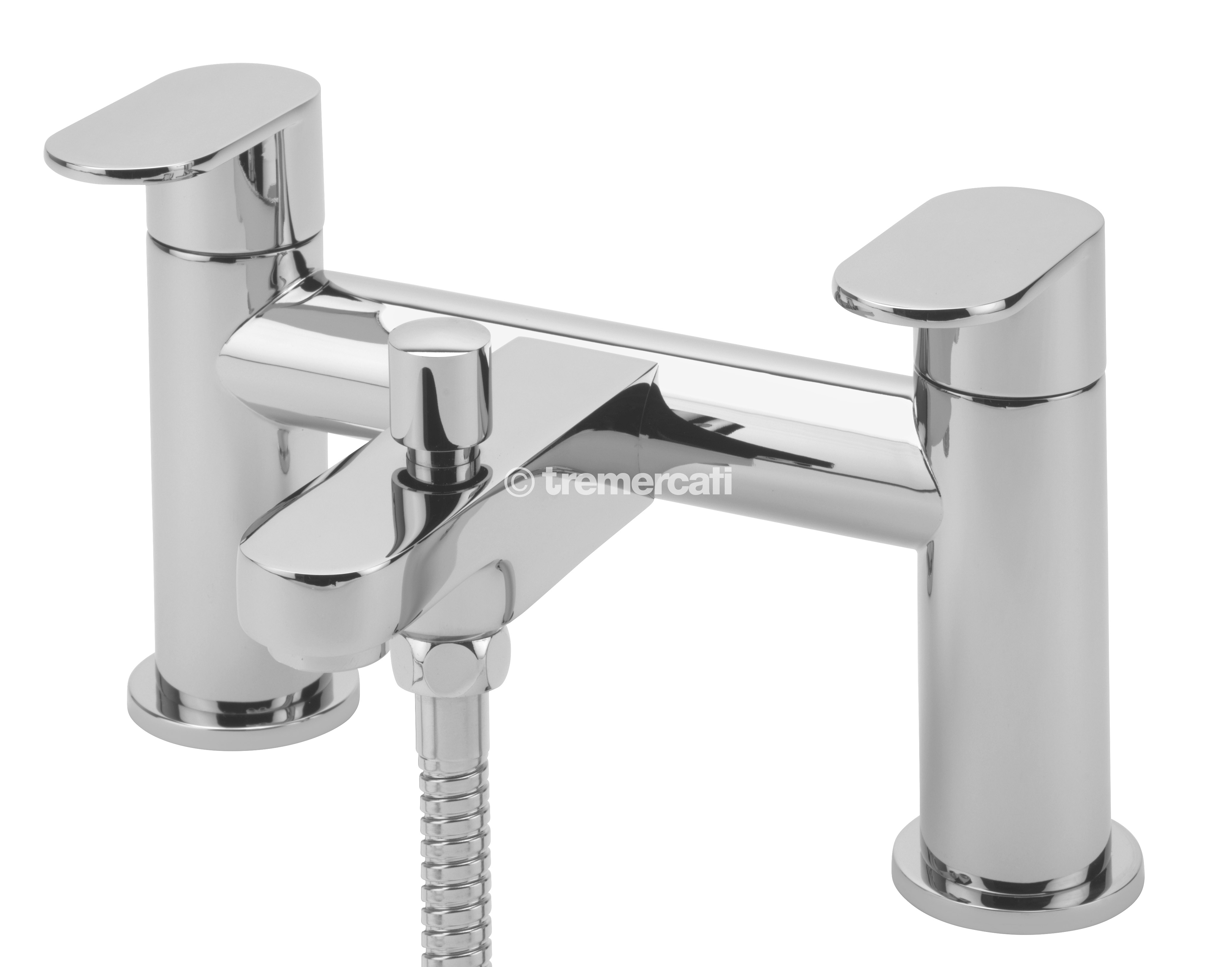 TRE MERCATI GECO PILLAR BATH SHOWER MIXER COMPLETE WITH KIT CHROME PLATED