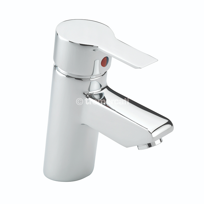 TRE MERCATI ANGLE MONO BASIN MIXER WITH POP-UP WASTE CHROME PLATED