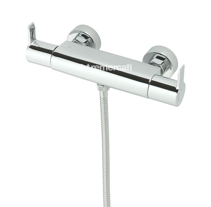 TRE MERCATI EXPOSED THERMOSTATIC BAR SHOWER VALVE - CHROME PLATED