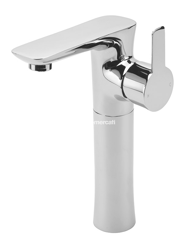 TRE MERCATI BALENA EXTENDED MONO BASIN WITH CLICK CLACK WASTE CHROME PLATED