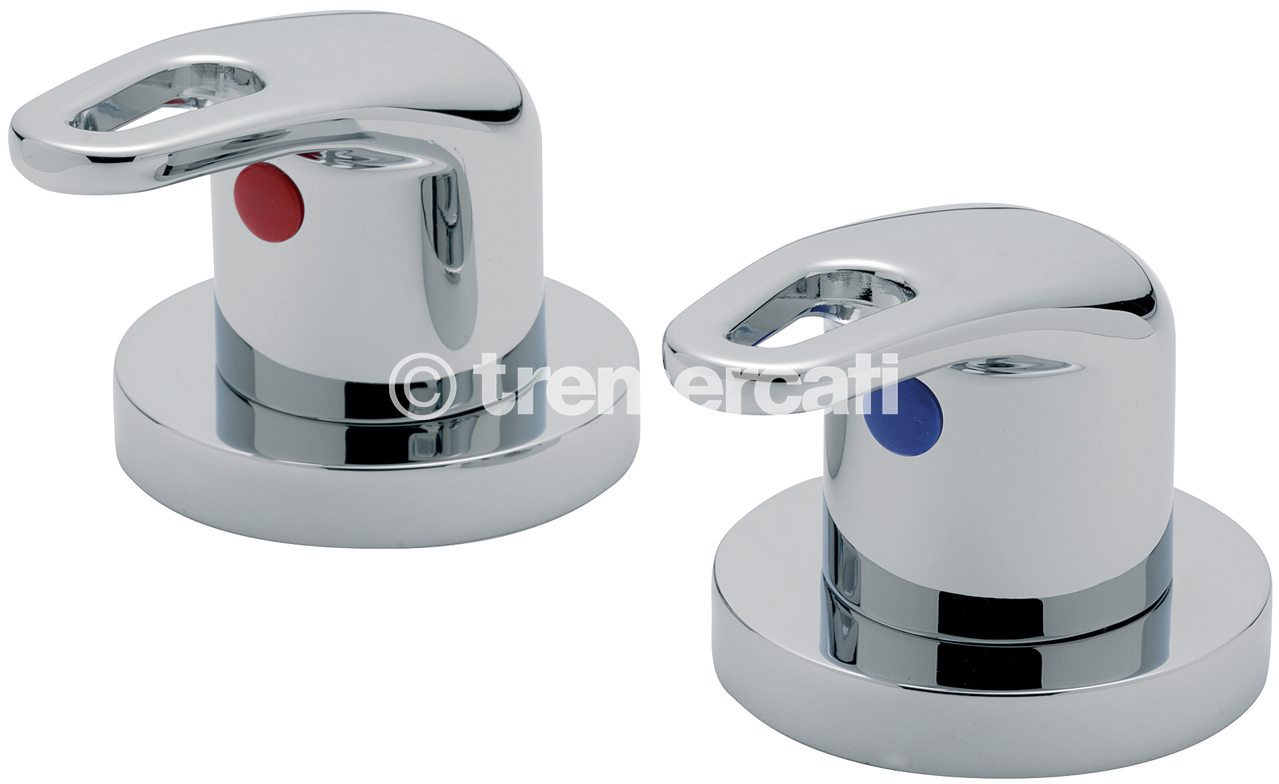 "TRE MERCATI LATINA PAIR OF 3/4"" SIDE VALVES CHROME PLATED"