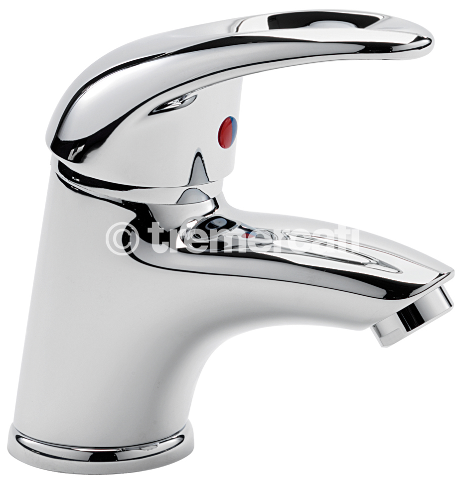 TRE MERCATI LATINA MINI MONO BASIN MIXER WITH CLICK CLACK WASTE CHROME PLATED