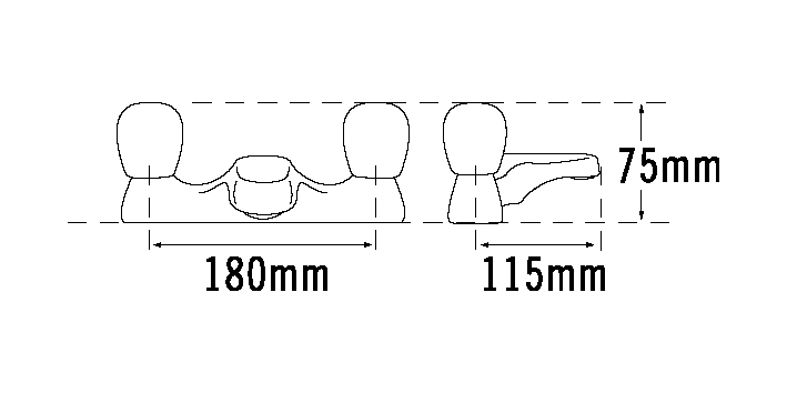 TRE MERCATI CAPRI DECK BATH FILLER - HEADLESS CHROME PLATED