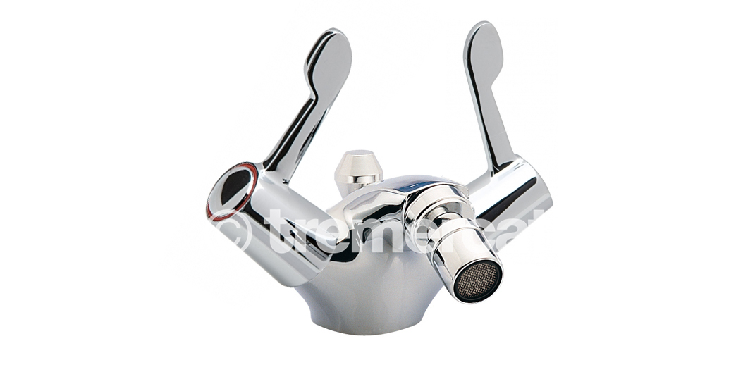 "TRE MERCATI CAPRI LEVER MONO BIDET MIXER WITH POP-UP WASTE - CERAMIC DISC VALVES - 3"" LEVERS - CHROME PLATED"
