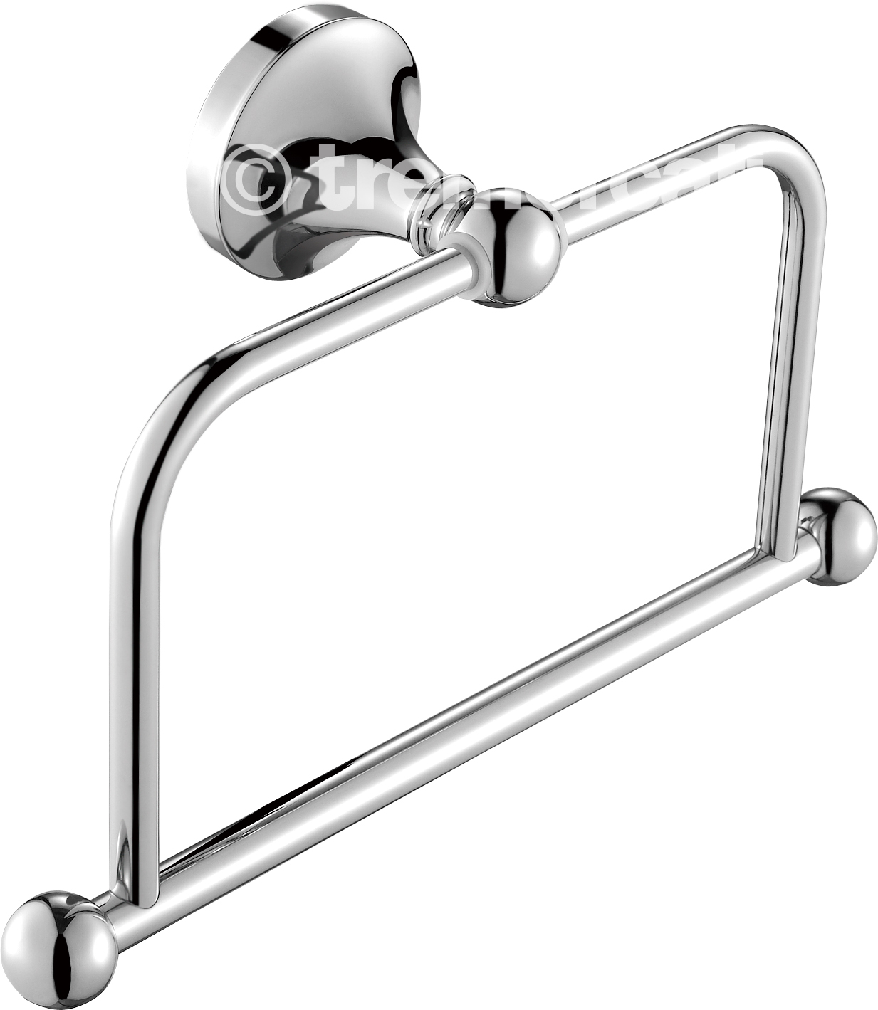 TRE MERCATI IMPERIAL TOWEL RING - CHROME PLATED
