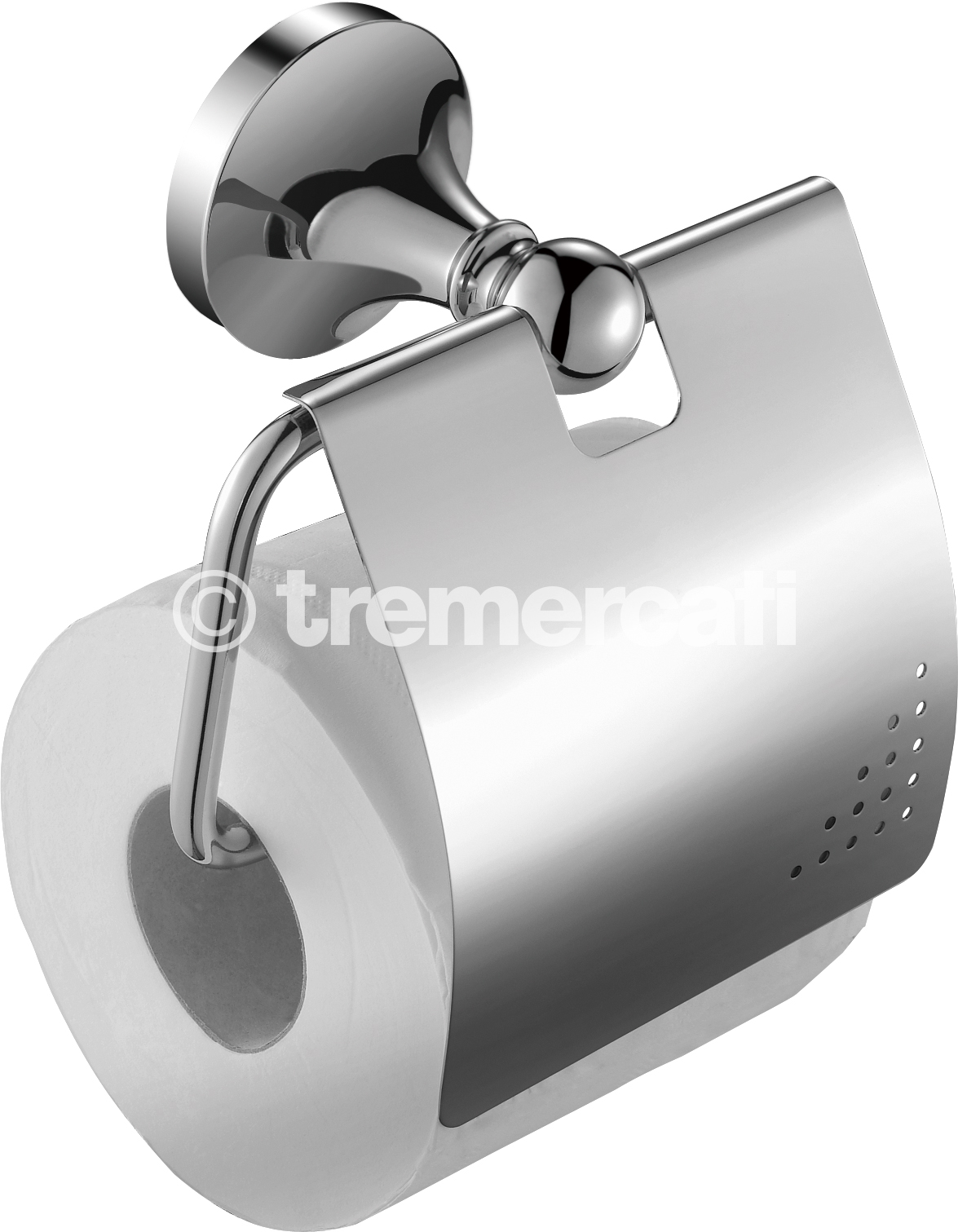 TRE MERCATI IMPERIAL COVERED TOILET ROLL HOLDER - CHROME PLATED