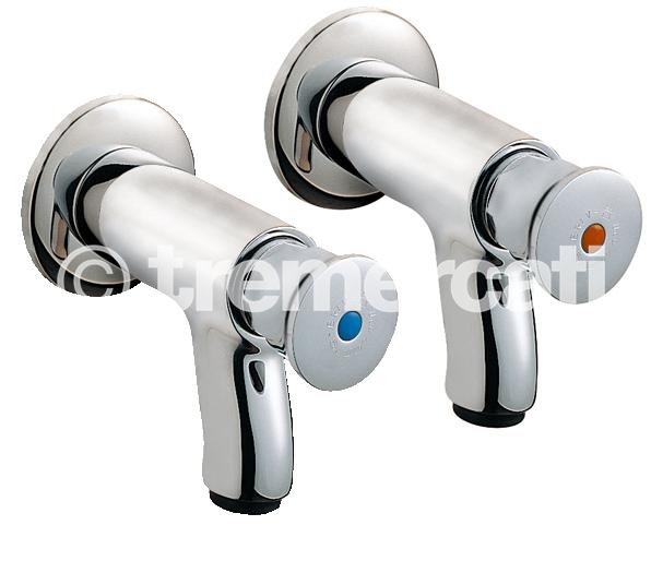 Tre Mercati Capri Non Concussive Pair of Bib Taps With Front Press - Chrome Plated (CP)