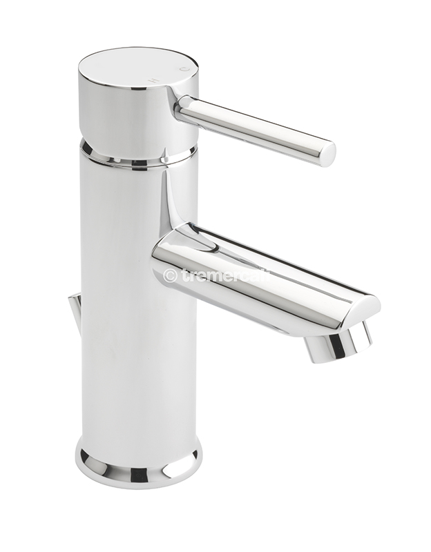 TRE MERCATI POPPY MONO BASIN MIXER WITH POP-UP WASTE - CHROME PLATED