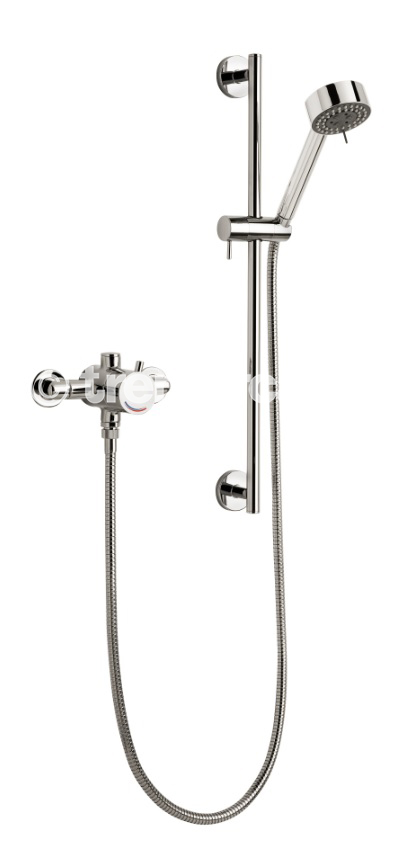 TRE MERCATI EXPOSED / CONCEALED SEQUENTIAL THERMOSTATIC SHOWER VALVE WITH MULTI- FUNCTION KIT CHROME PLATED