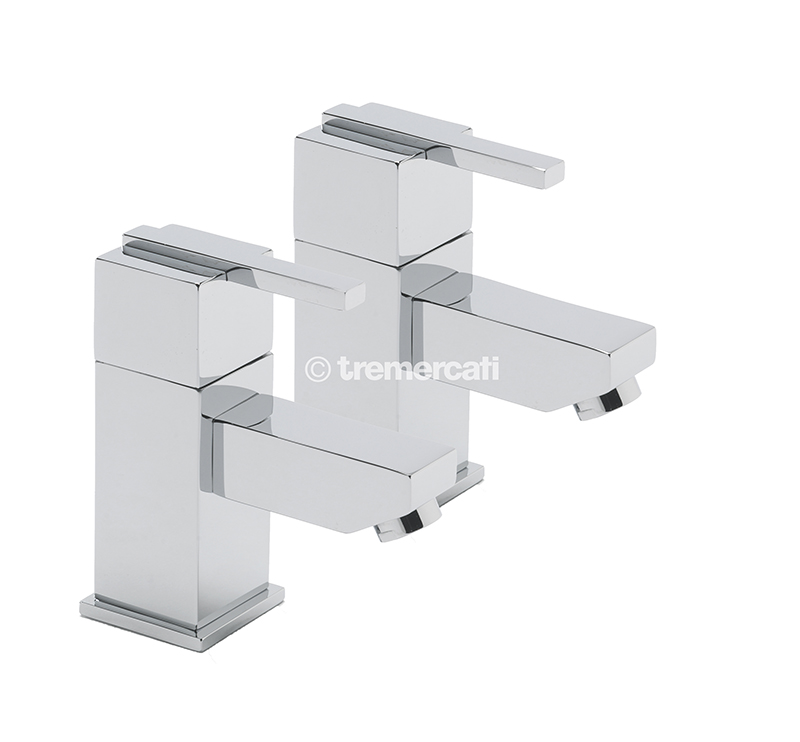 TRE MERCATI VESPA PAIR OF BASIN TAPS - CHROME PLATED - TM-45010