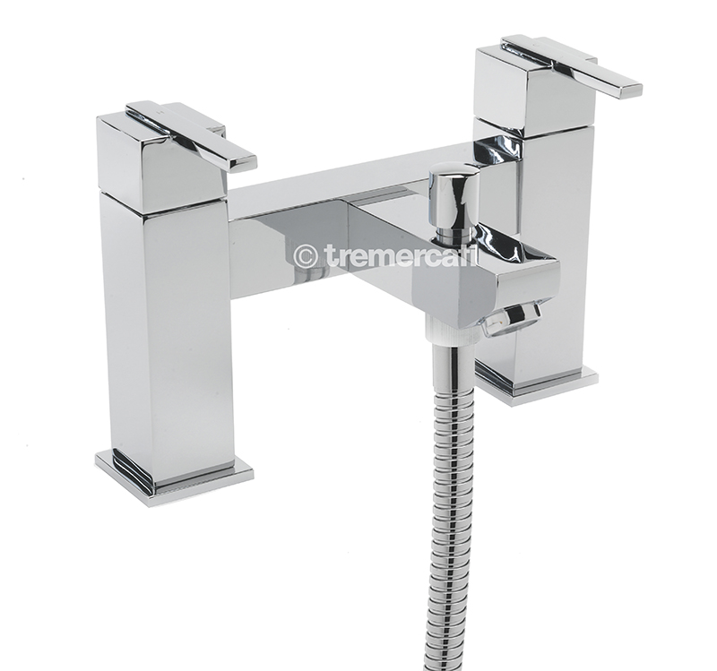 TRE MERCATI VESPA PILLAR BATH SHOWER MIXER COMPLETE WITH KIT CHROME PLATED