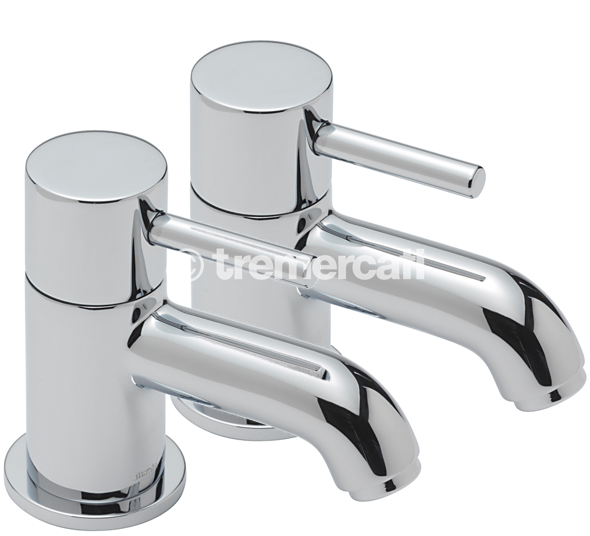 TRE MERCATI MILAN PAIR OF BATH TAPS - CHROME PLATED