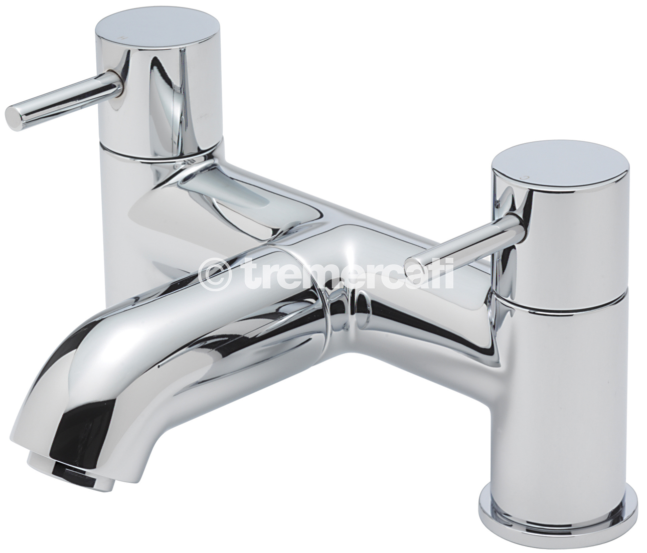 TRE MERCATI MILAN PILLAR BATH FILLER - CHROME PLATED