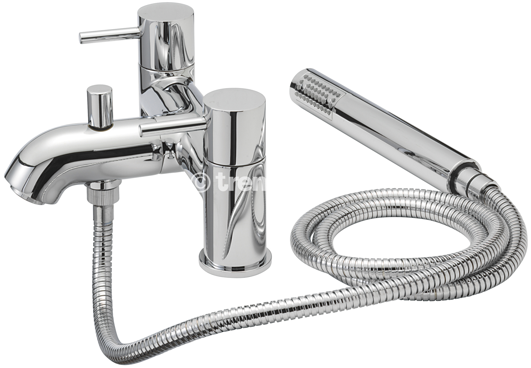 TRE MERCATI MILAN PILLAR BATH SHOWER MIXER COMPLETE WITH KIT - CHROME PLATED