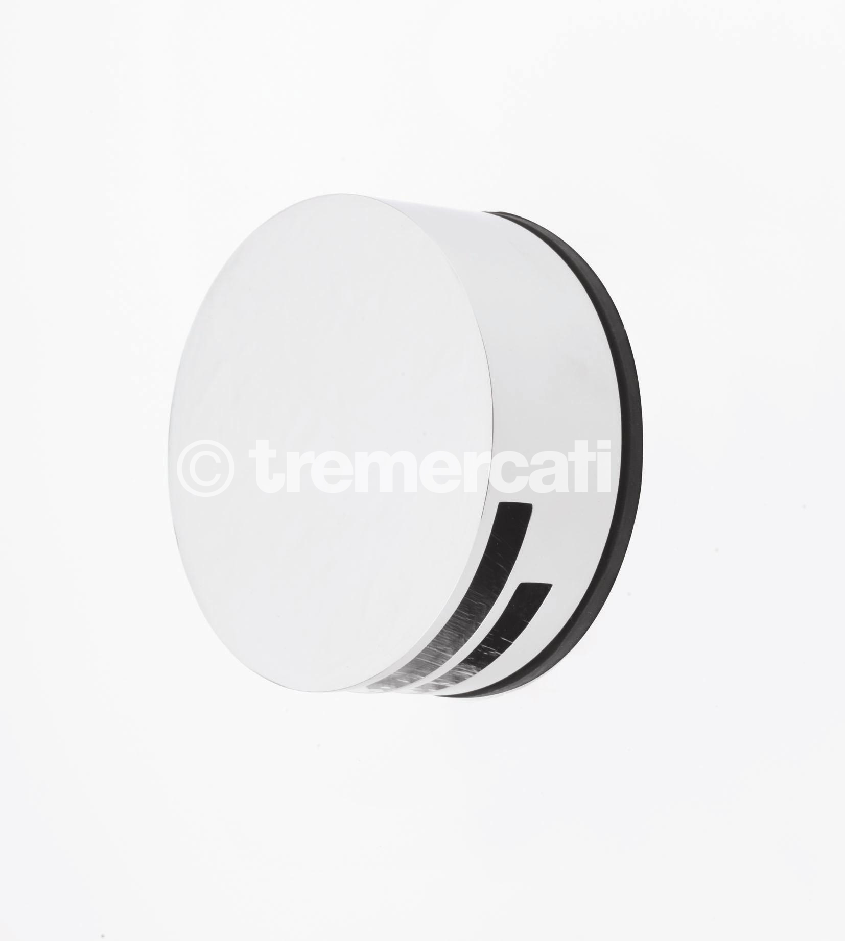 Tre Mercati Round Bath Filler With Clicker Waste - Chrome Plated (CP)