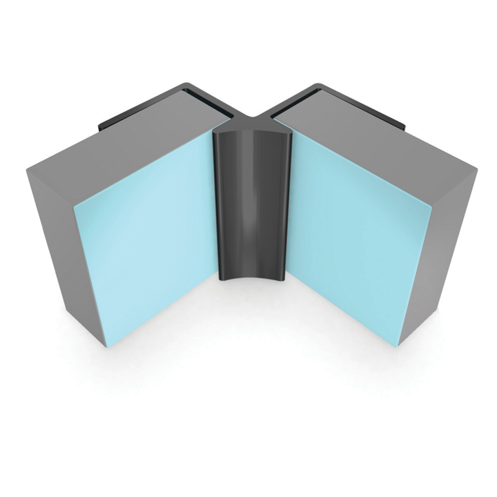 MULTIPANEL REFLECT RANGE TYPE 10 INTERNAL CORNER 2.5M - AQUA