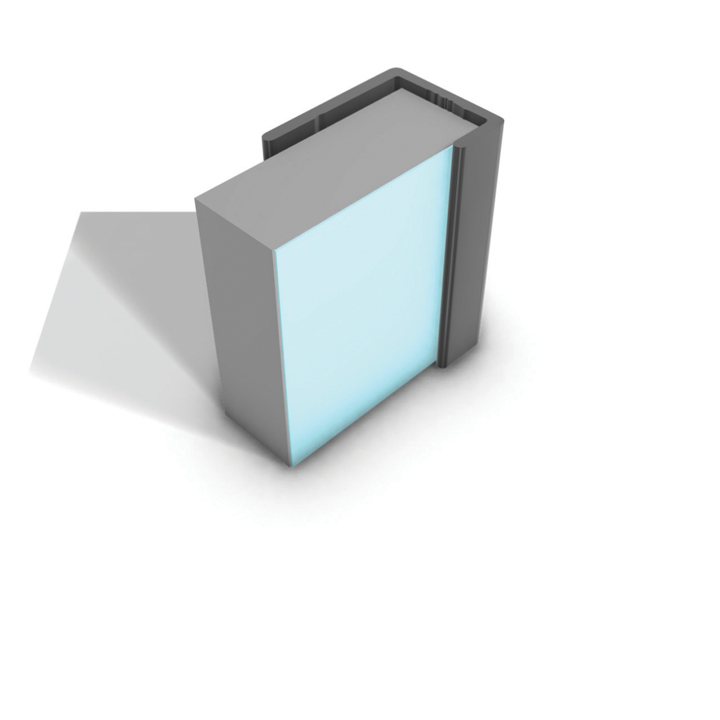 MULTIPANEL REFLECT RANGE TYPE 14 END CAP 2.5M - AQUA