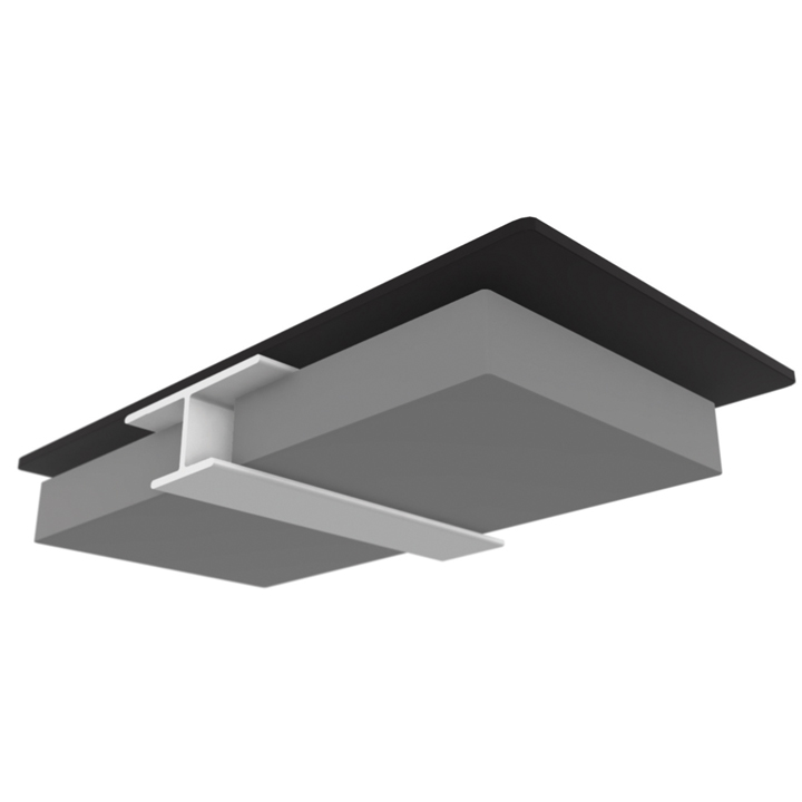 Multipanel Ceiling Panel PVC Profile - 2.7 Metre - Type K Mid Joint - Silver