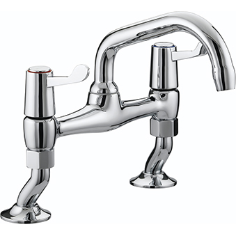 Bristan Lever Bridge Sink Mixer With 3in (76mm) Levers Dual Flow Chrome