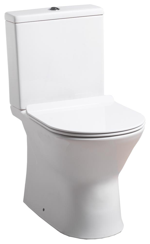 QX VENICE WC CLOSE COUPLED PAN / CISTERN & SOFT CLOSE SEAT