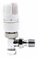 Westherm Classic 15mm Angled Thermostatic Radiator Valve (TRV) - White