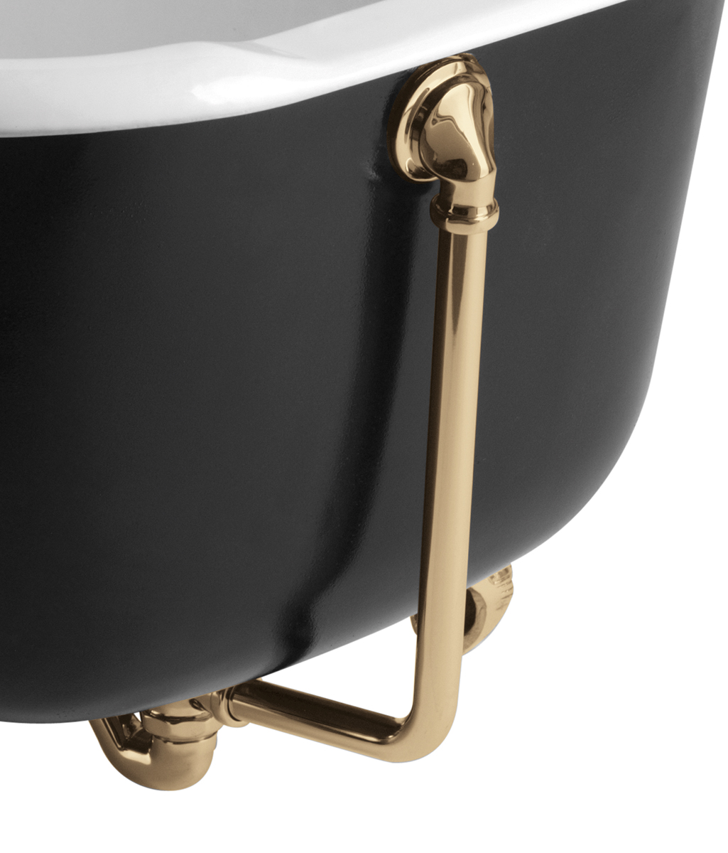 Bristan Traditional Exposed Bath Waste with Overflow - Gold