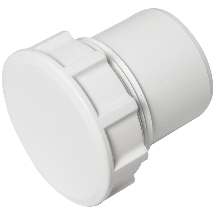 FLOPLAST WS30WH 32MM ABS SOLVENT WELD WASTE - ACCESS PLUG - WHITE