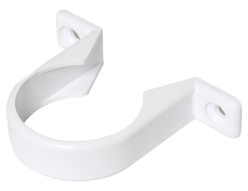 FLOPLAST WS34WH 32MM ABS SOLVENT WELD WASTE - PIPE CLIP - WHITE