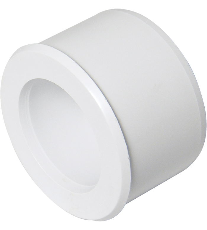 FLOPLAST WS38WH ABS SOLVENT WELD WASTE - 40 x 32MM REDUCER - WHITE