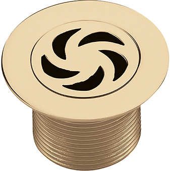 Bristan Luxury Shower Waste with 70mm Flange - Gold Plated