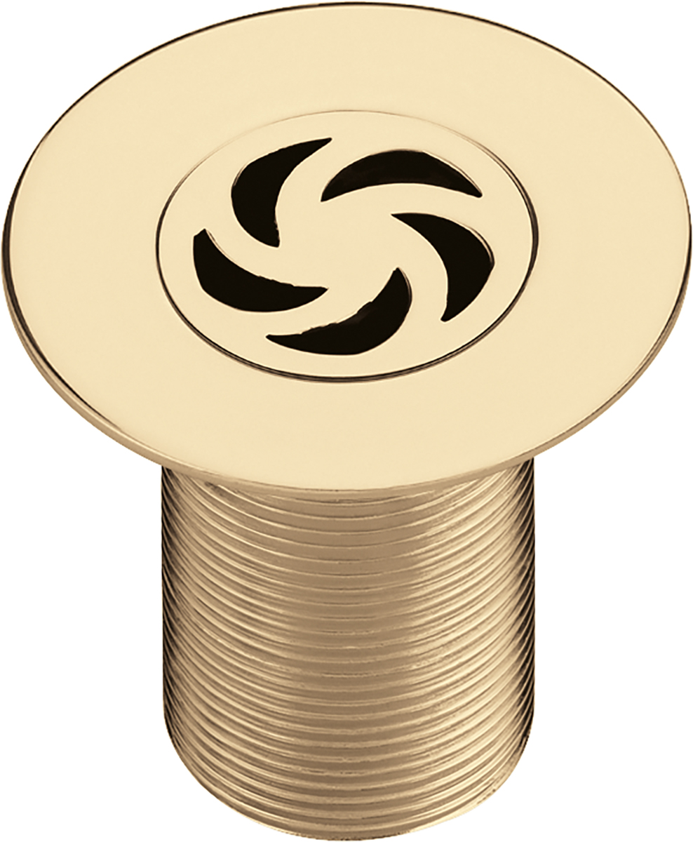 Bristan Luxury Shower Waste with 85mm Flange - Gold Plated