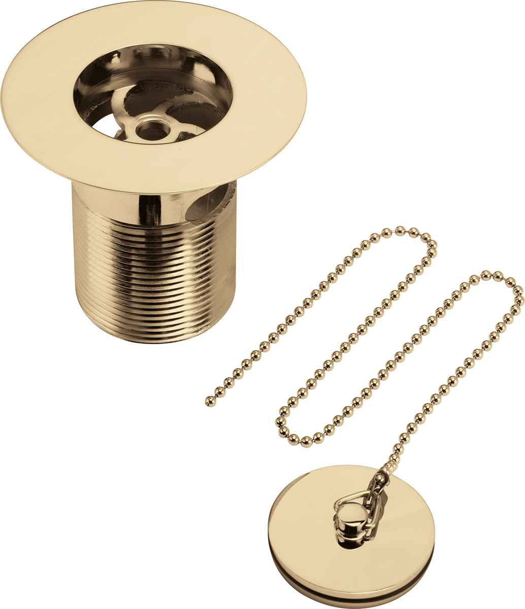 Bristan Luxury Sink Waste with Solid Brass Plug - Gold Plated