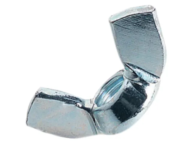 FORGEFIX WING NUTS ZINC PLATED M10 BAG OF 10