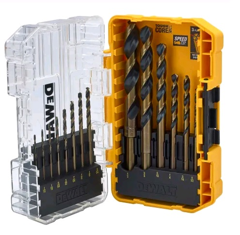 DEWALT - 14 PIECE BLACK & GOLD HSS DRILL BIT SET - XMS19DGOLD14
