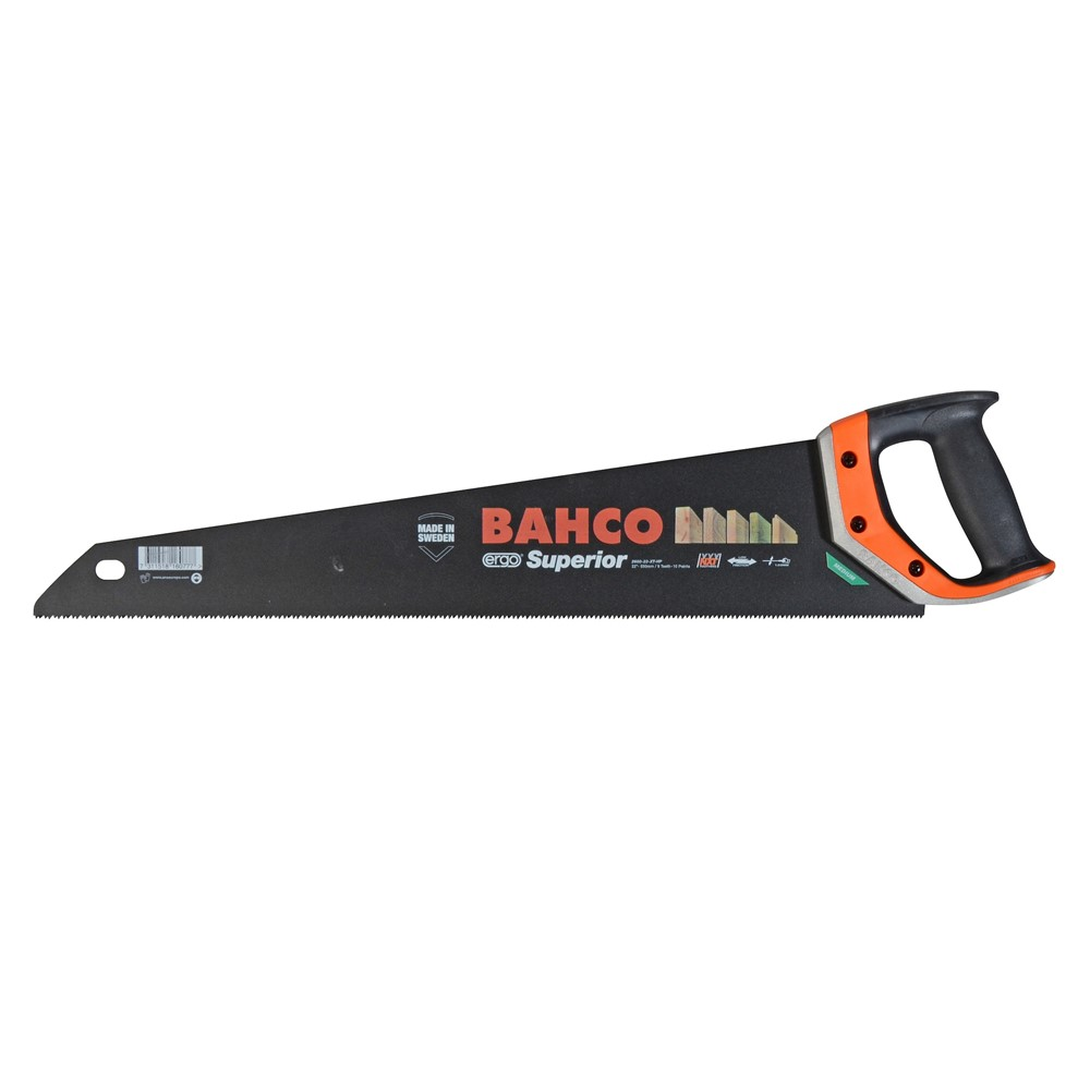 "Bahco Superior Handsaw 550mm (22"") 9TPI - 2600-22-XT-HP"