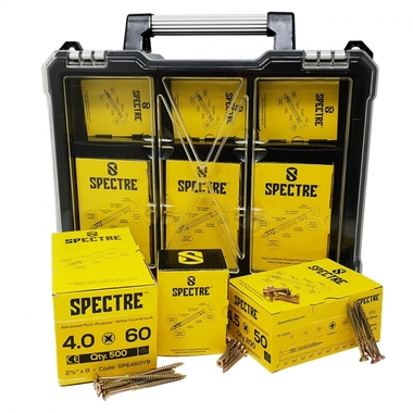 Forgefix 1200 Piece Spectre Screw Organiser - FOROPSPE1200Y