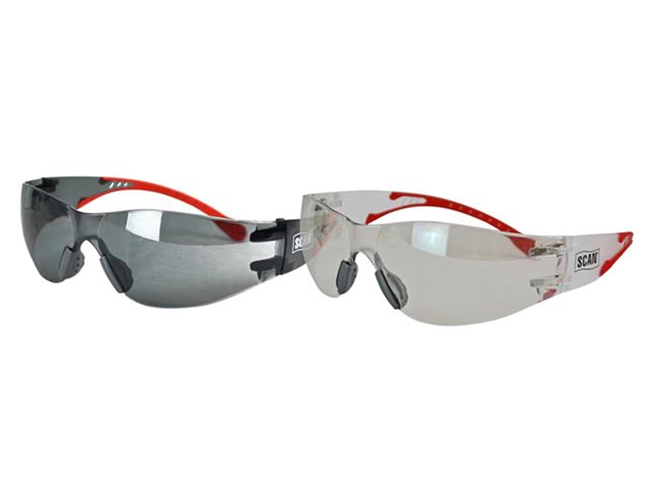 Scan Flexi-Spec Safety Glasses Twin Pack (Clear Lens & Smoked Lens)