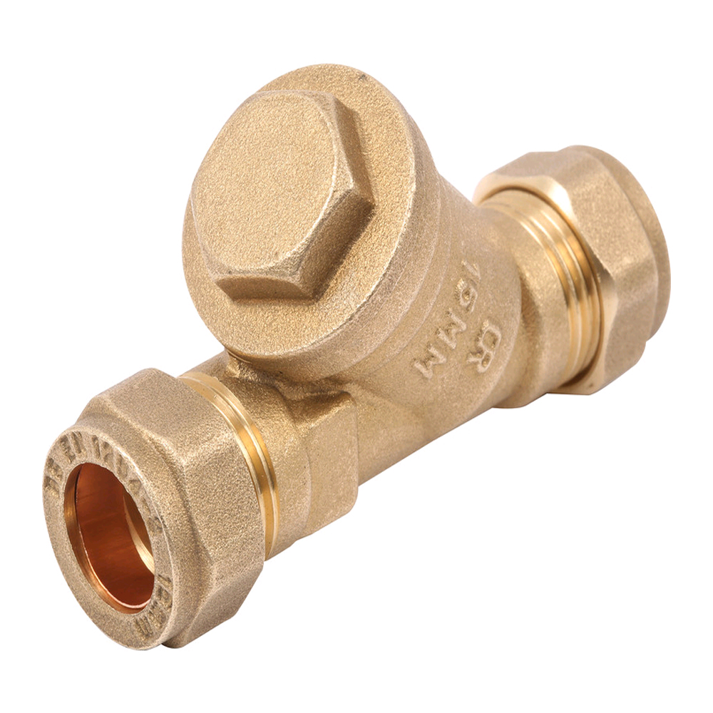 15MM Y STRAINER FILTER C X C BRASS